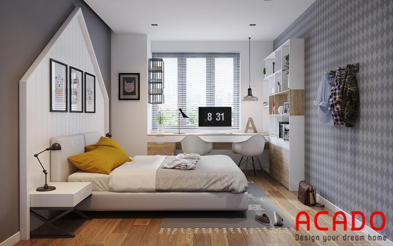 Mẫu thiết kế phòng ngủ đơn giản, hiện đại - nội thất chung cư đẹp