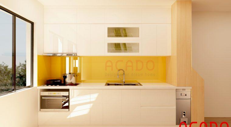 Tủ bếp Acrylic bóng gương đẹp, hiện đại kiể dáng mới nhất 2020