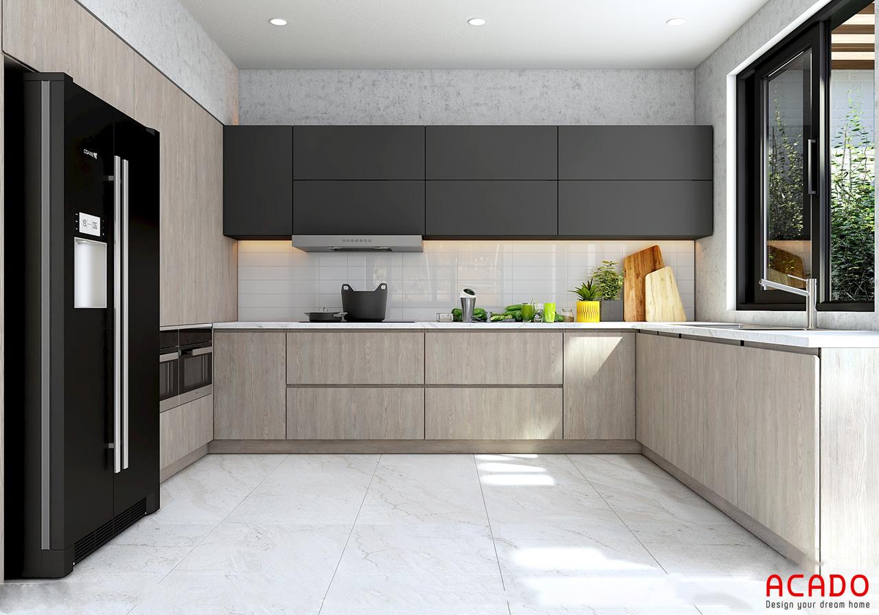 Tủ bếp Picomat chữ U cho những căn bếp có diện tích rộng