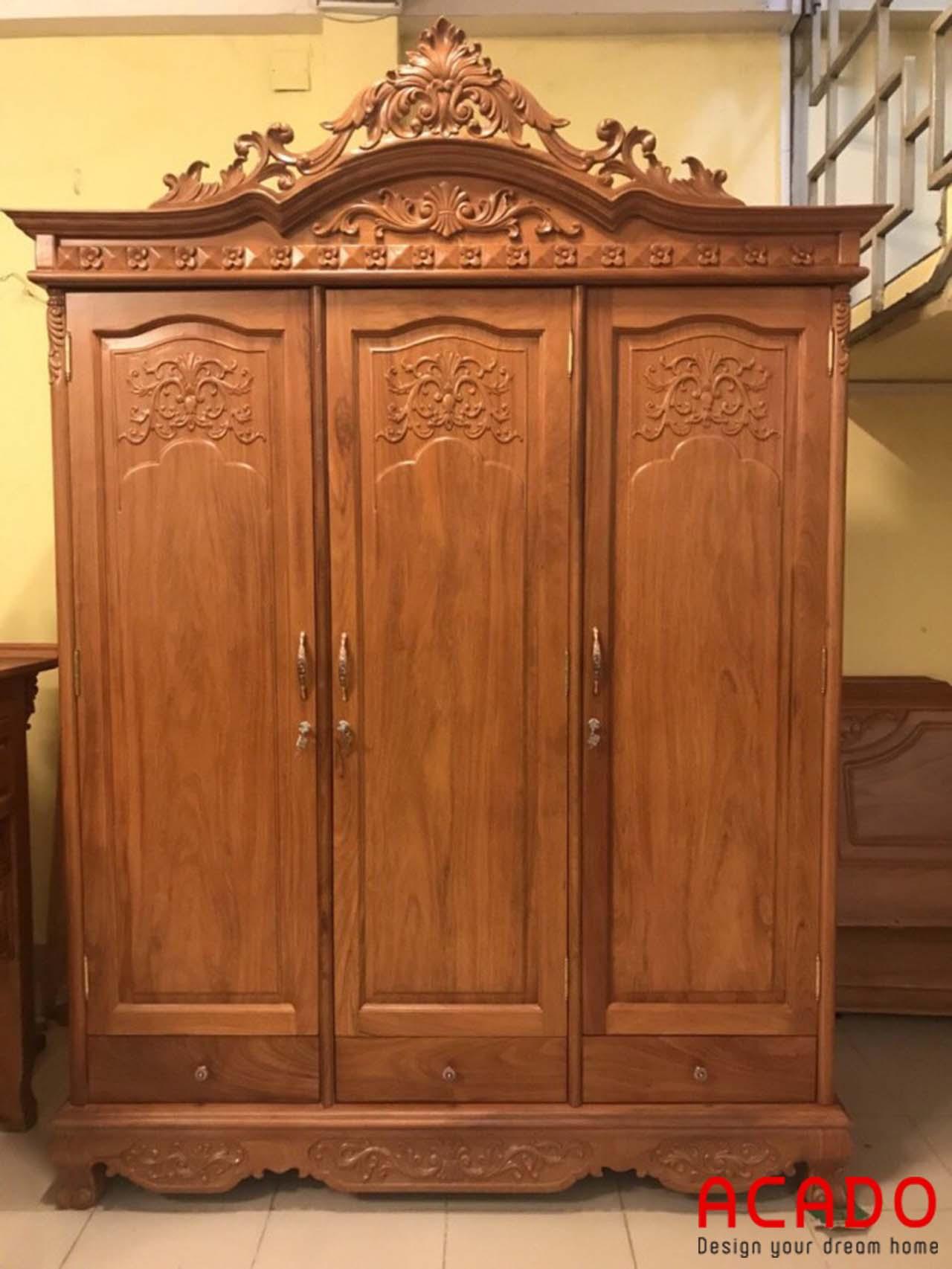 Tủ quần áo gỗ Hương cao cấp - nội thất Acado