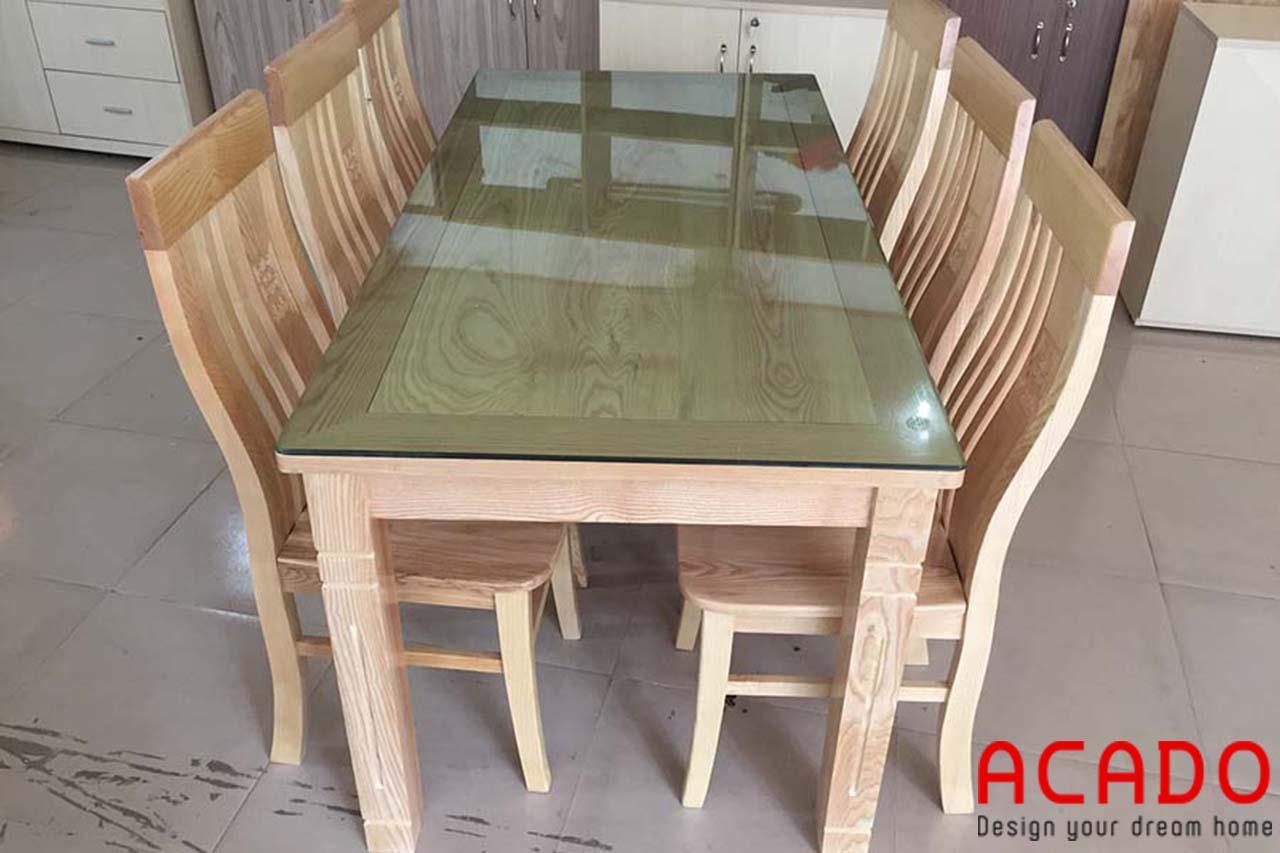 Bàn ăn gỗ tự nhiên ấm cúng và sang trọng - nội thất Acado