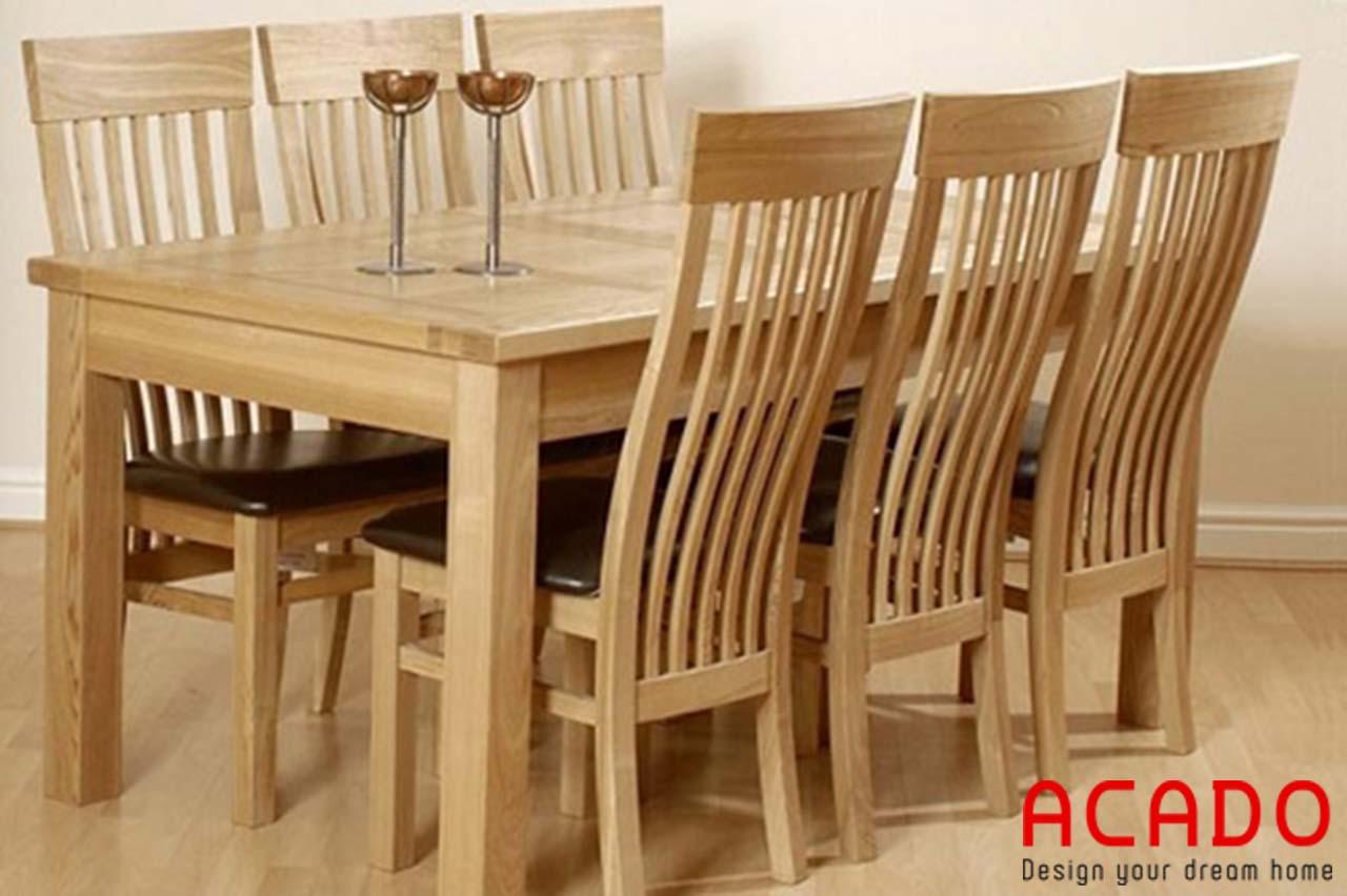 Bàn ăn gỗ sồi Nga tại Acado giá thành hợp lý, miễn phí vận chuyển tại Hà Nội