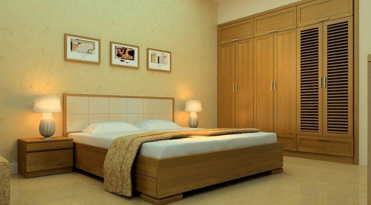 Giường ngủ gỗ sồi Nga kiểu dáng mới nhất 2020