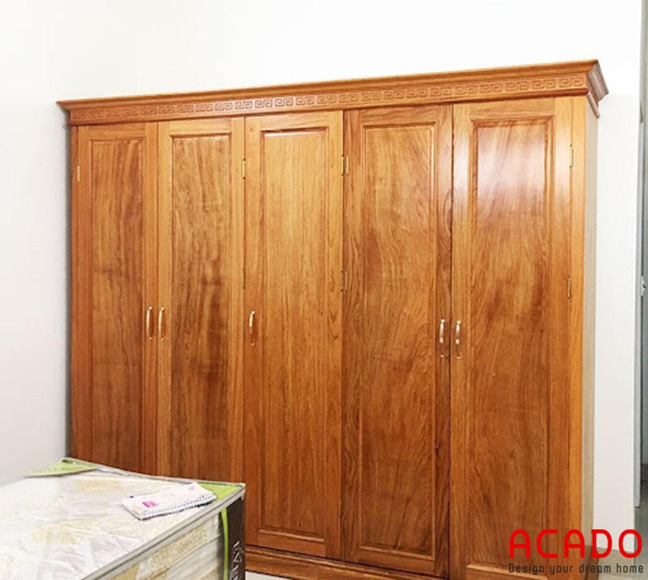Tủ quần áo gỗ Hương cao cấp - sang trọng cho không gian phòng ngủ của bạn