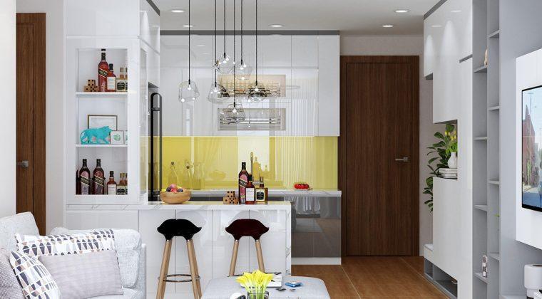 Tủ bếp hình chữ U ACADO lên thiết kế cho gia đình chị Hoài