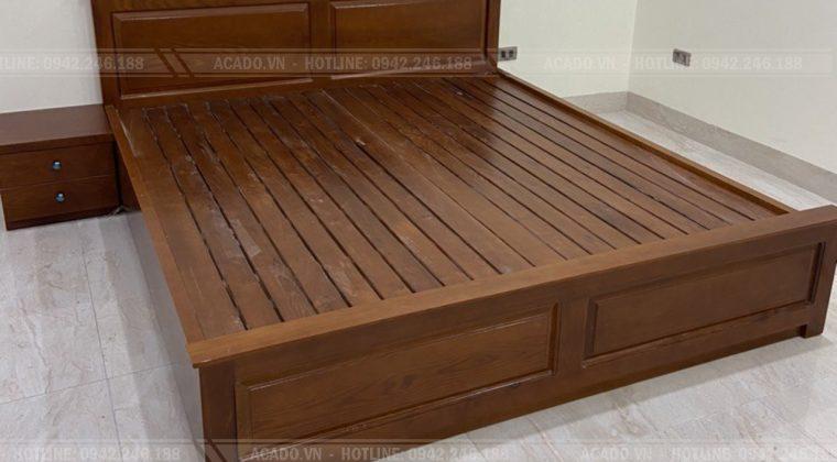 Mẫu giường gỗ tự nhiên hiện đại được đặt làm nhiều nhất hiện nay.