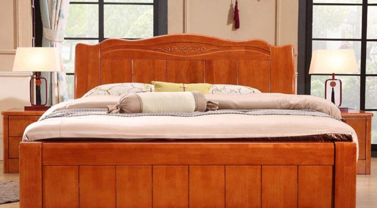 Giường gỗ xoan đào tự nhiên bền đep với thời gian