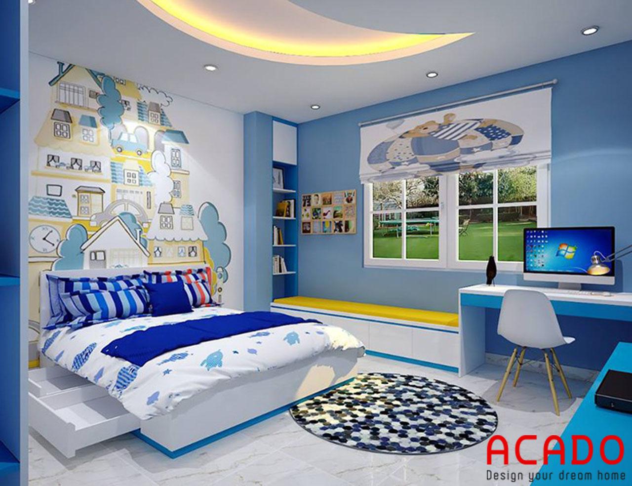 Giường ngủ trẻ em có thêm ngăn kéo tiện lợi
