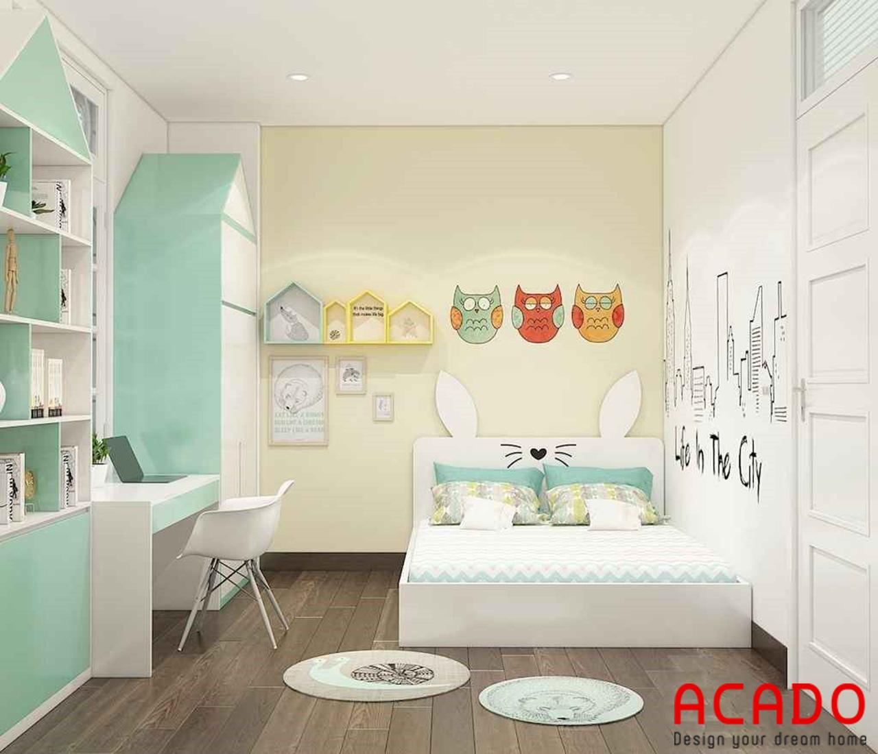 Thiết kế giường ngủ cho 2 bé trai - nội thất Acado