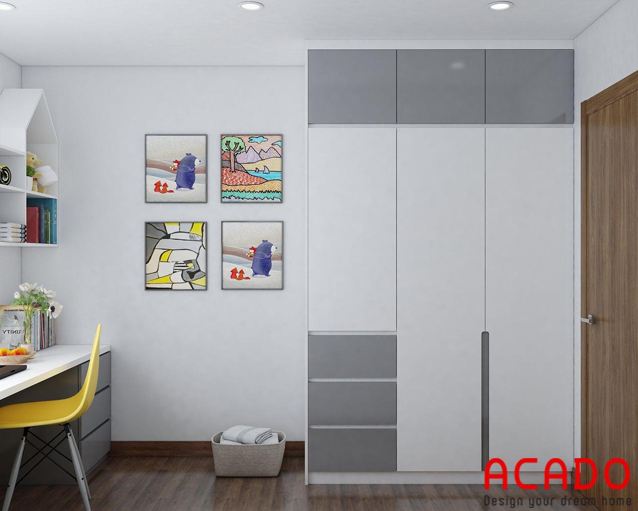 Thiết kế tủ quần áo trong phòng ngủ 01