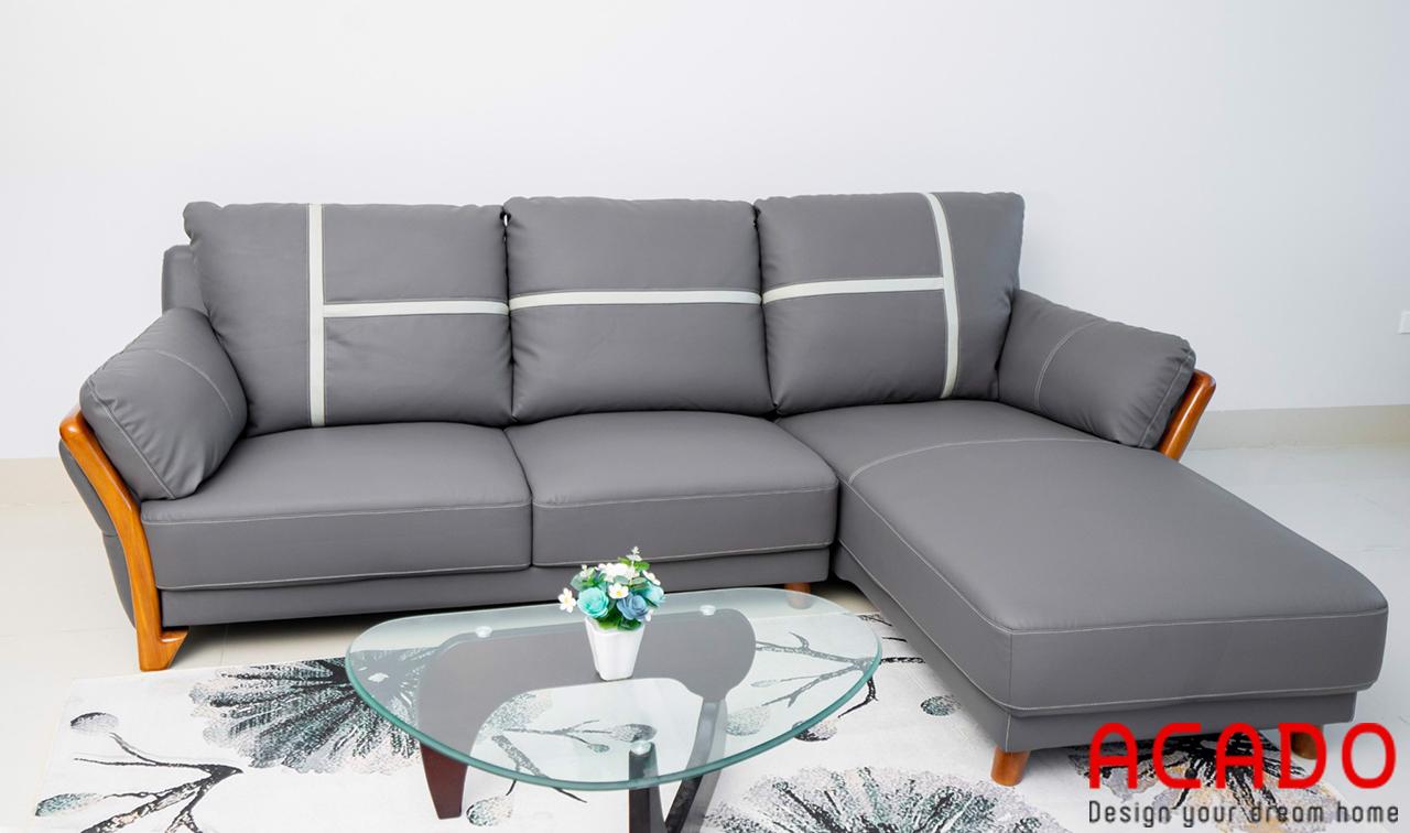 Ghế sofa nỉ màu xanh nhạt trẻ trung nhưng vẫn toát lên vẻ đẹp sang trọng