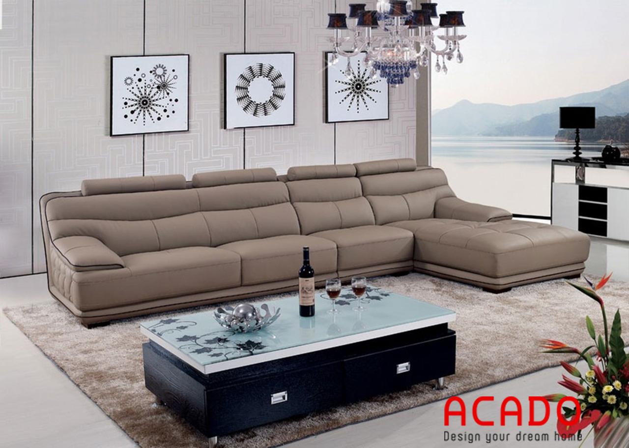 Nếu không gian phòng khách rộng có thể tham khảo mẫu sofa này
