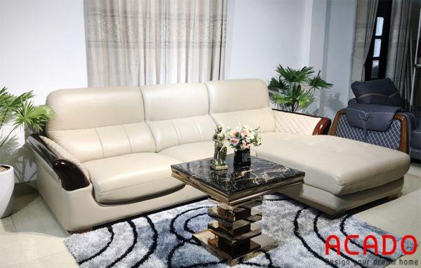 Ghế sofa bọc da sang trọng, cao cấp - nội thất Acado