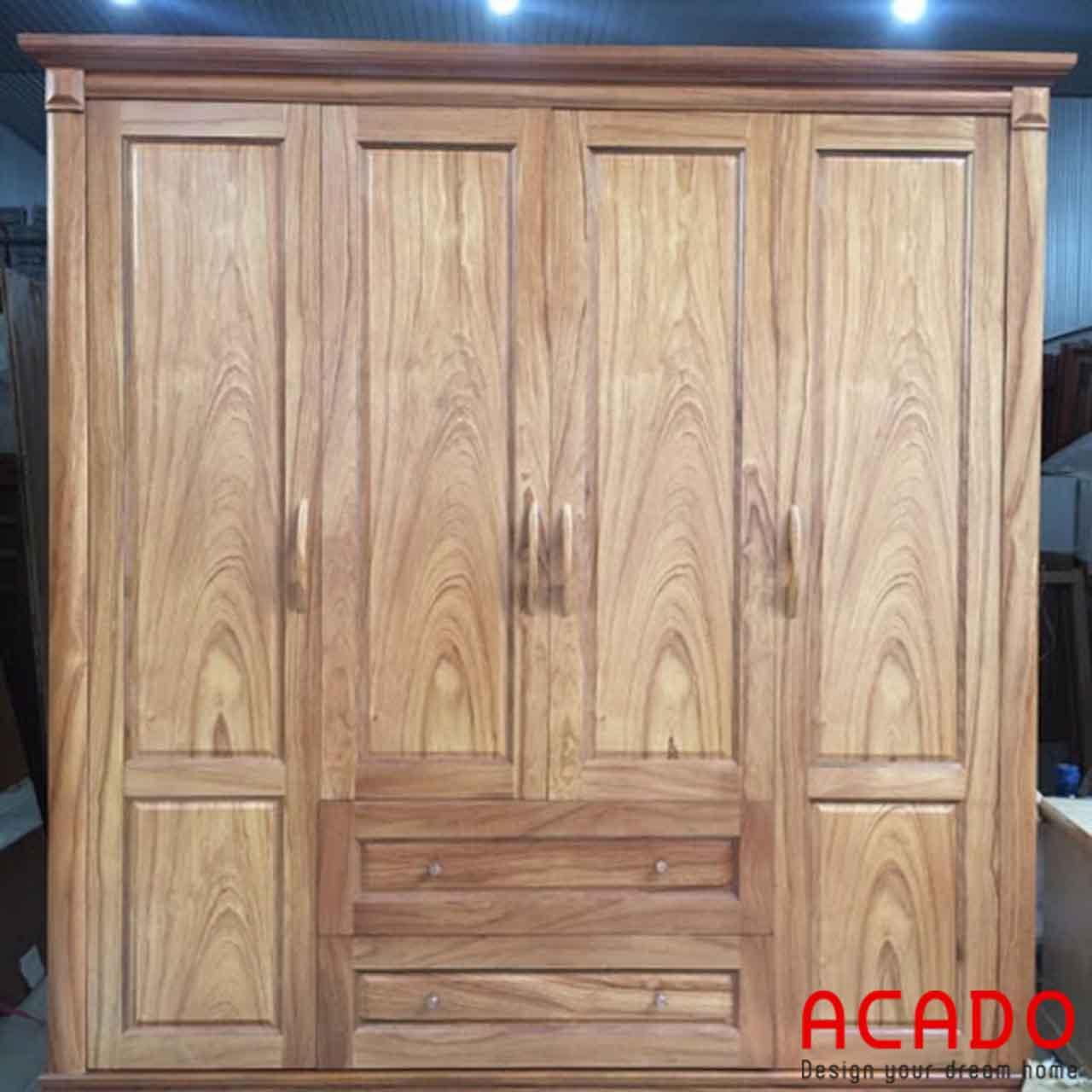 Tủ quần áo gỗ Hương vân sang trọng cho bạn tham khảo