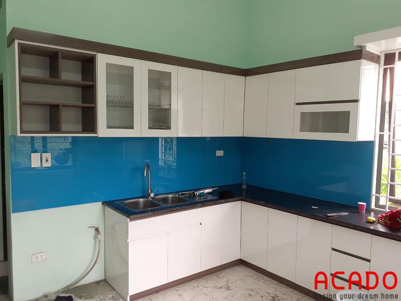 Tủ bếp gỗ công nghiệp Melamine tại Hà Nội - ACADO thiết kế và thi công