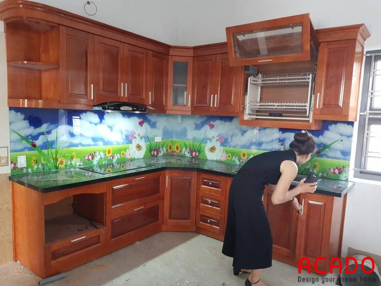 ACADO - đơn vị thi công tủ bếp và kính ốp bếp 3d uy tín - chất lượng tại Hà Nội