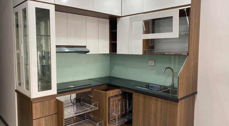 Mẫu tủ bếp đẹp 2020 chất liệu gỗ công nghiệp Melamine hiện đại tại nội thất ACADO
