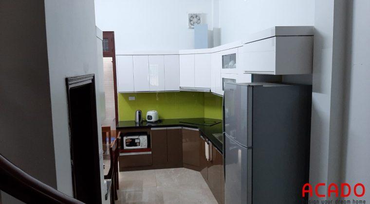 Đóng tủ bếp tại quan nhân - gia đình chị Hằng