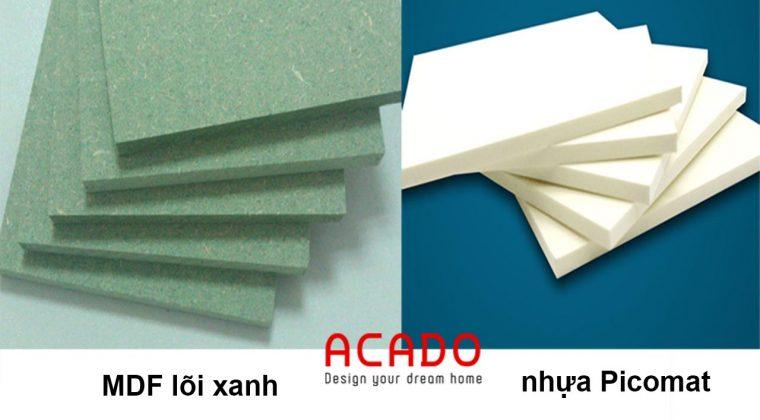 So sánh MDF lõi xanh và nhựa Picomat - ACADO.VN