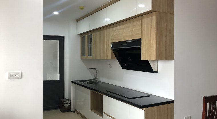 Tủ bếp Melamine sử dụng code MDF lõi xanh chống ẩm cho độ bền cao