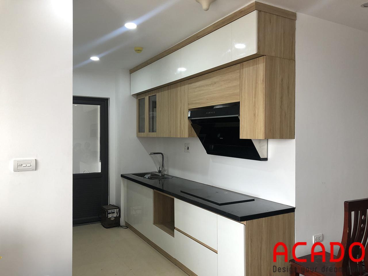 ACADO đơn vị thiết kế và thi công tủ bếp Melamine uy tín - chất lượng tại Hà Nội