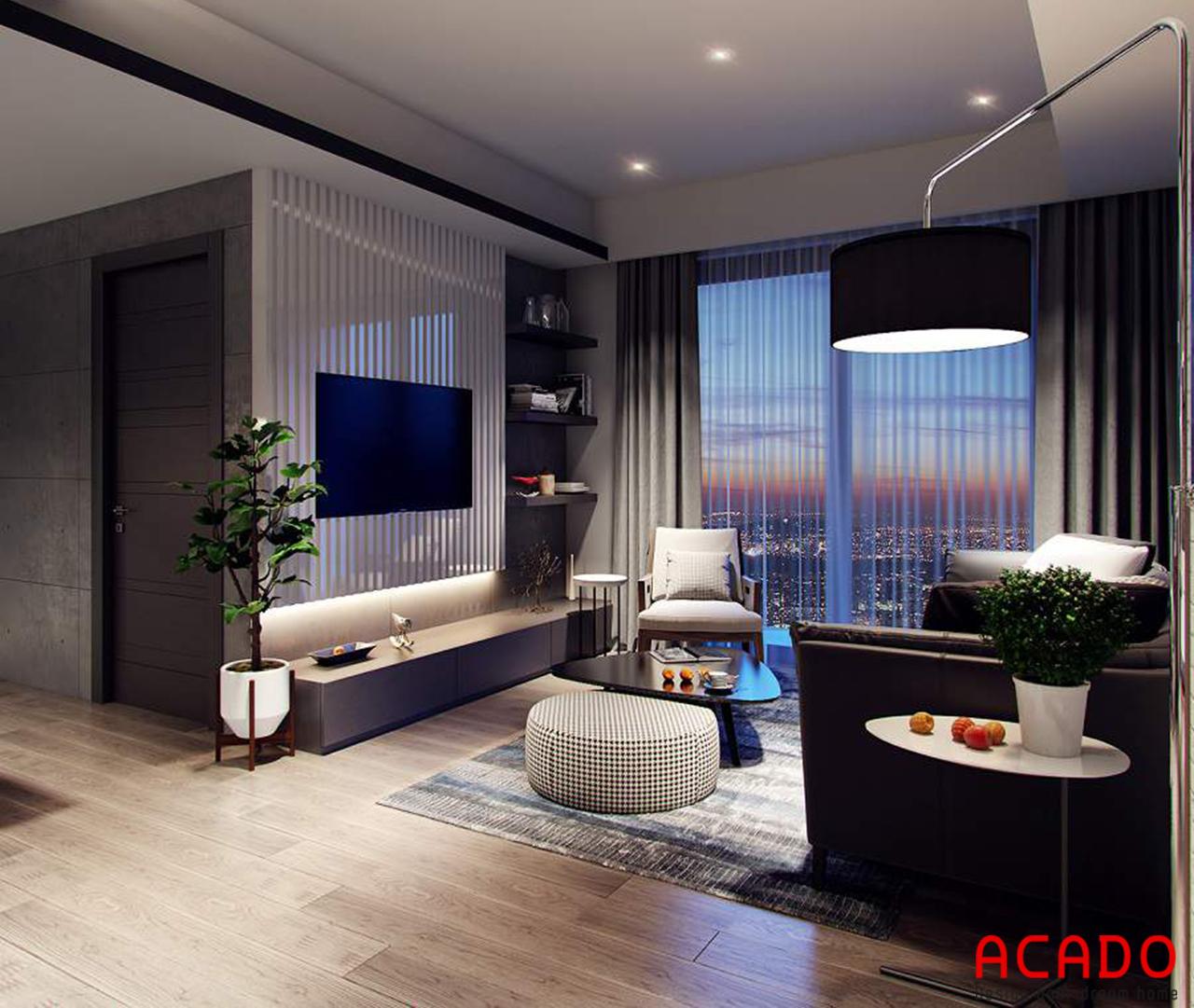 Thiết kế kệ tivi đơn giản để tiết kiệm diện tích không gian