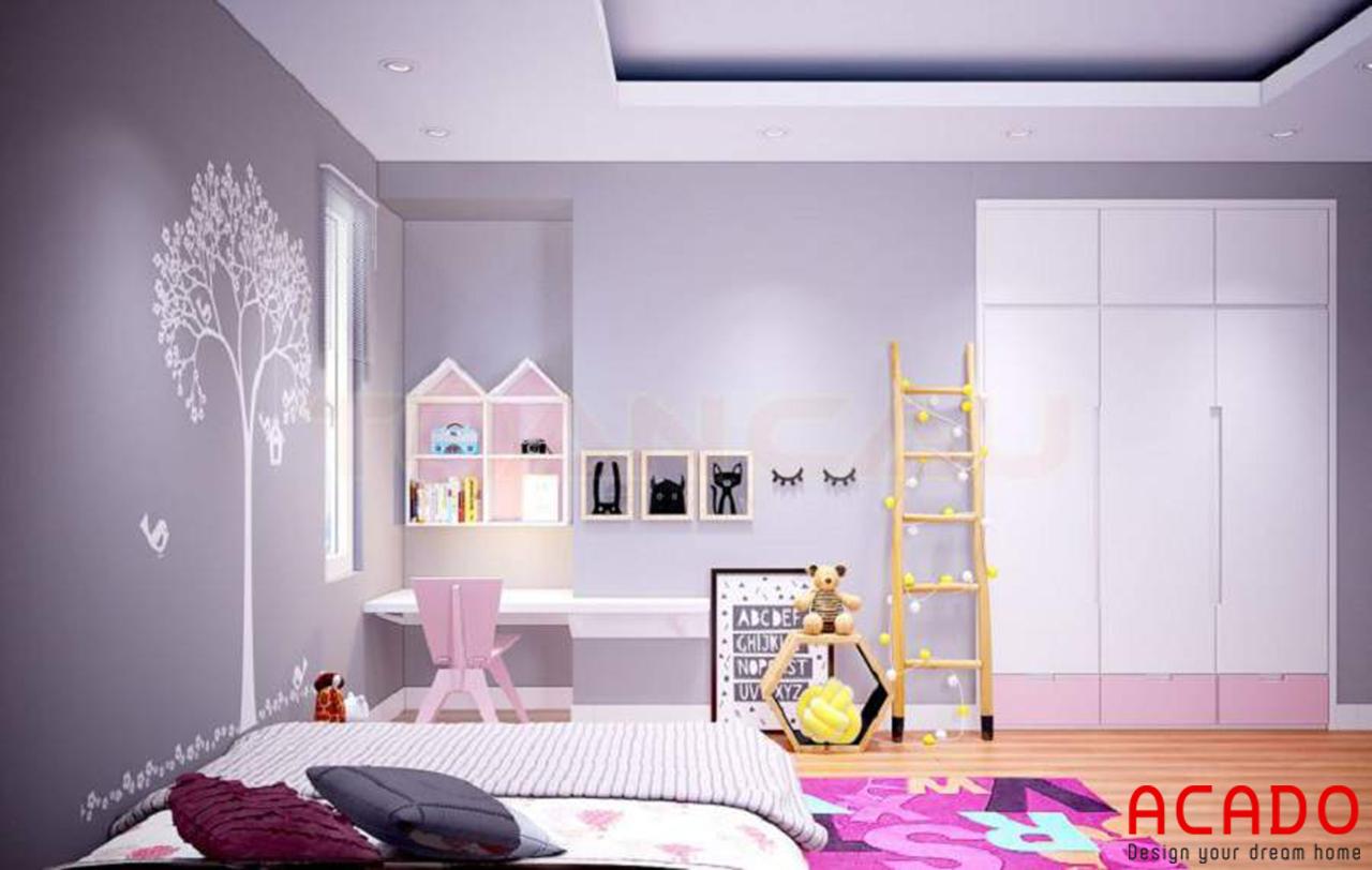 Thiết kế phòng ngủ cho bé gái đáng yêu và ngộ nghĩnh