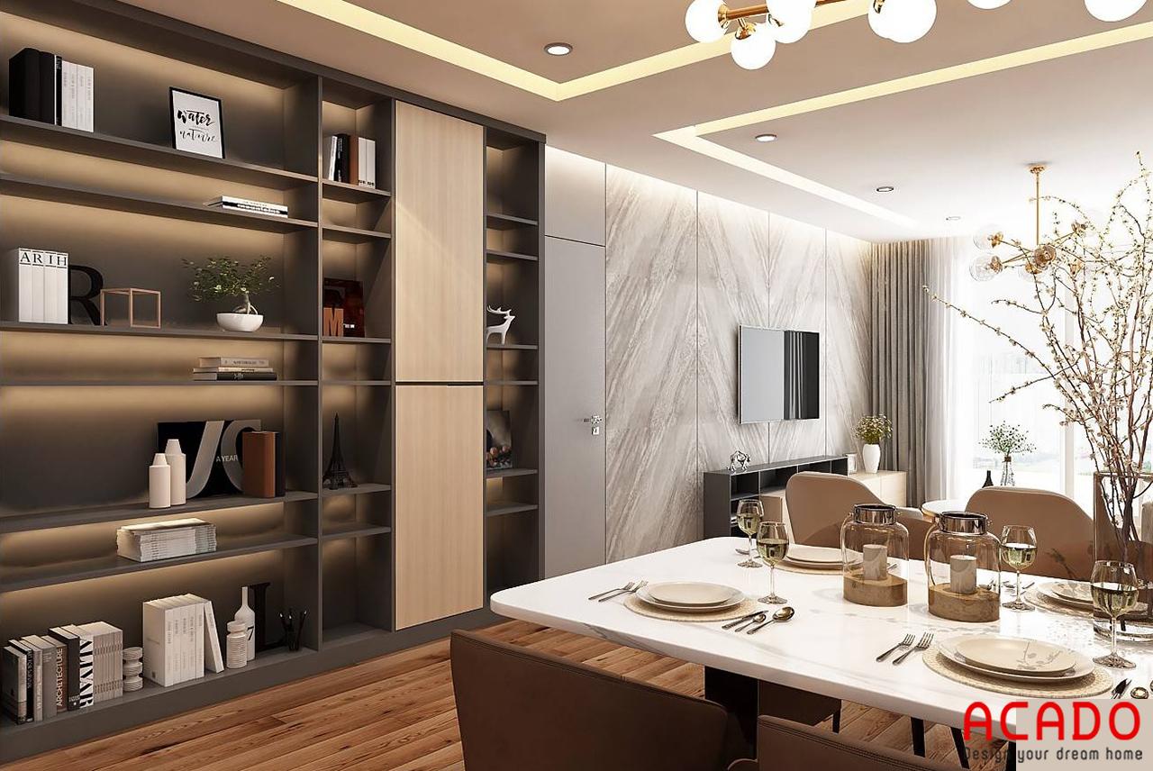 Thiết kế thêm tủ để tồ tiện lợi và để trang trí thêm cho không gian