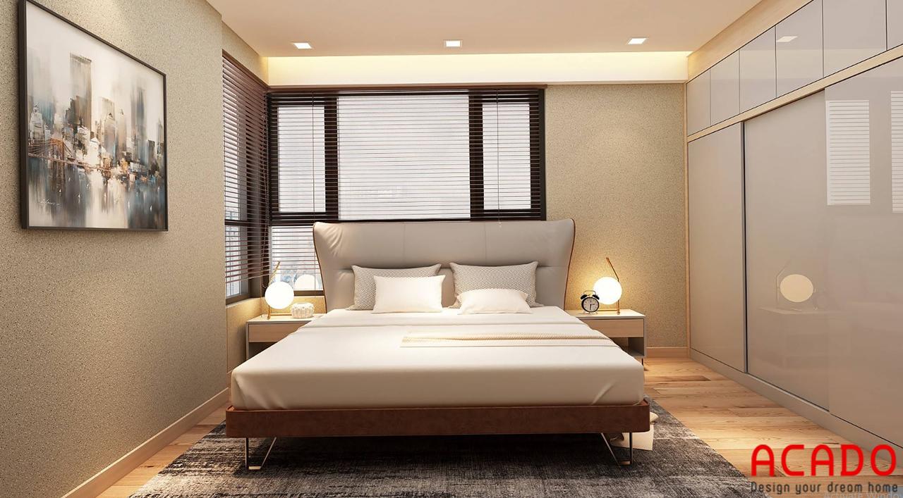Phòng ngủ bố trí các đồ nội thất ấm cúng, gần gũi