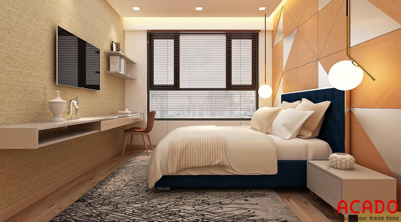 Bố trí nội thất phòng ngủ 02 cho chung cư 100m2