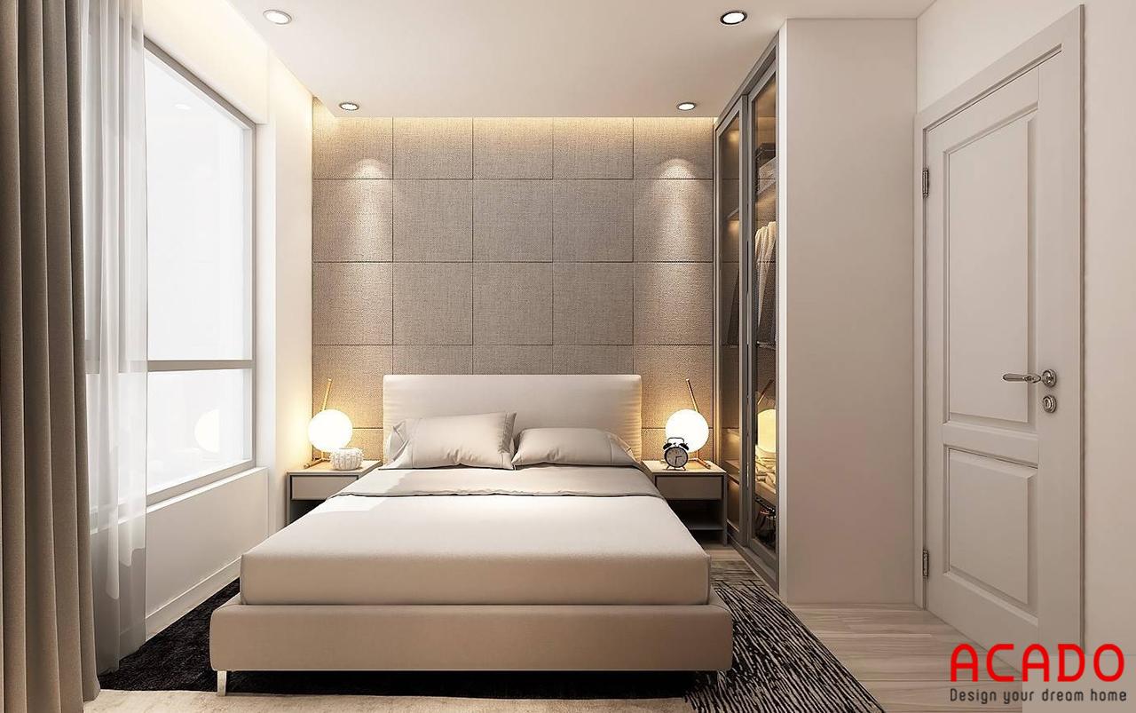 Phòng ngủ 03 với tone màu kem sang trọng