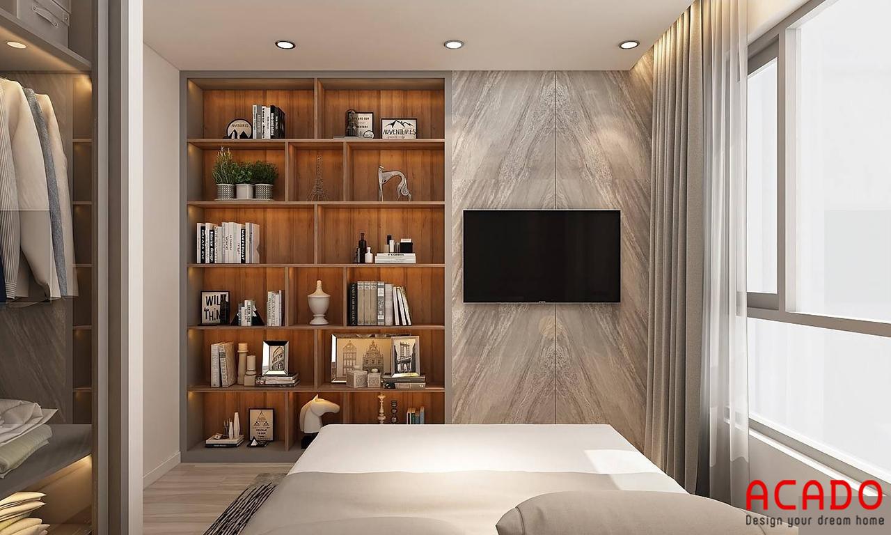 Thiết kế tủ trang trí để đồ cho không gian phòng ngủ thêm hiện đại