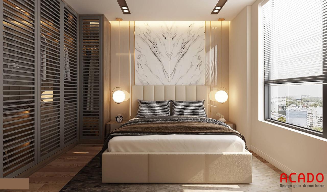 Mẫu thiết kế phòng ngủ chung cư ấm cúng, nhẹ nhàng