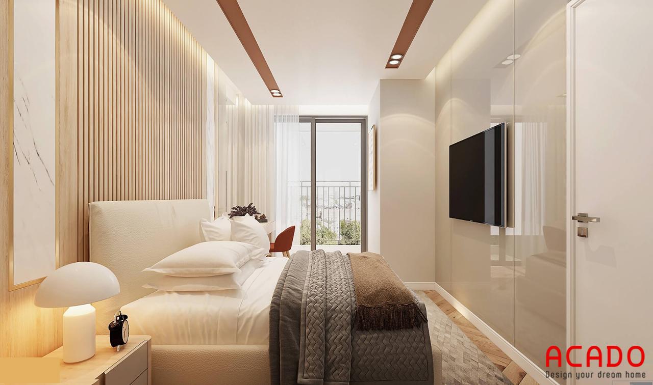Phòng ngủ có cửa sổ thông thoáng cho không gian phòng ngủ - thiết kế nội thất chung cư 2 phòng ngủ