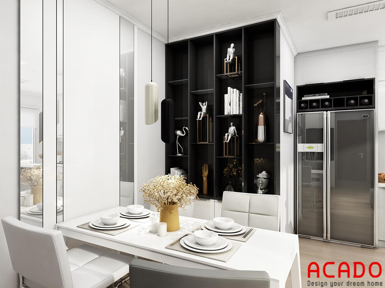 Hình ảnh tủ trang trí sang trọng cho không gian phòng bếp