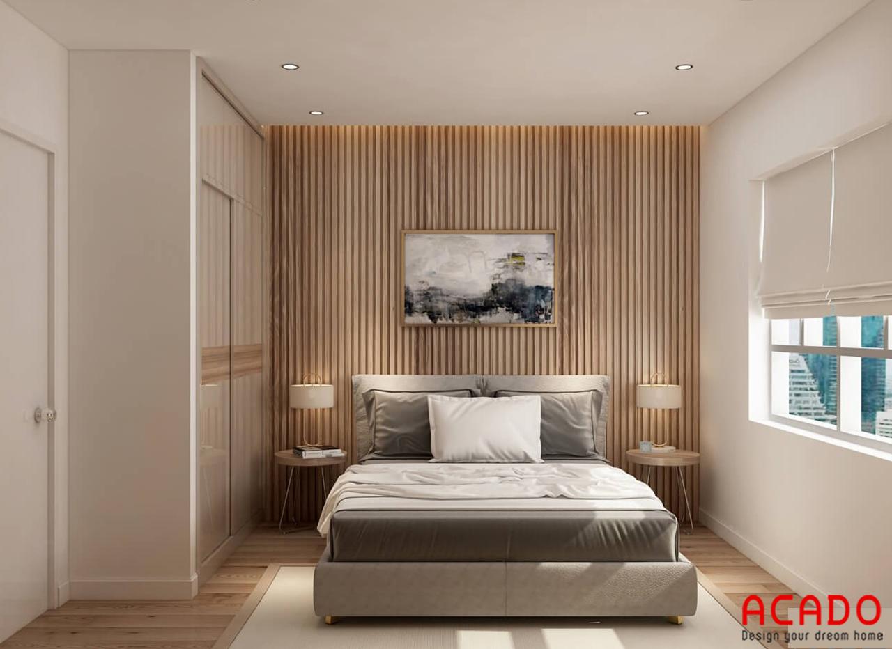 Sử dụng vánh gỗ trang trí cho căn phòng thêm ấm cúng