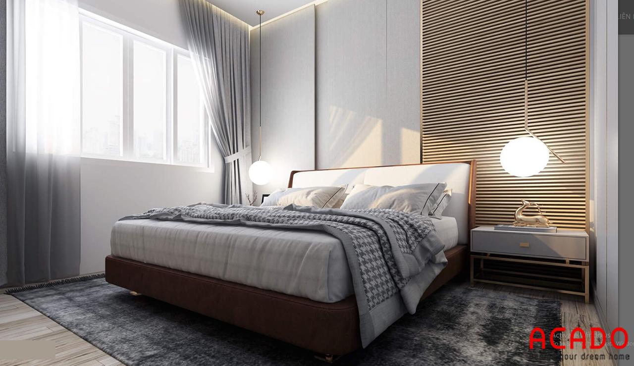 Thiết kế đơn giản nhưng vẫn toát lên vẻ đẹp hiện đại cho phòng ngủ