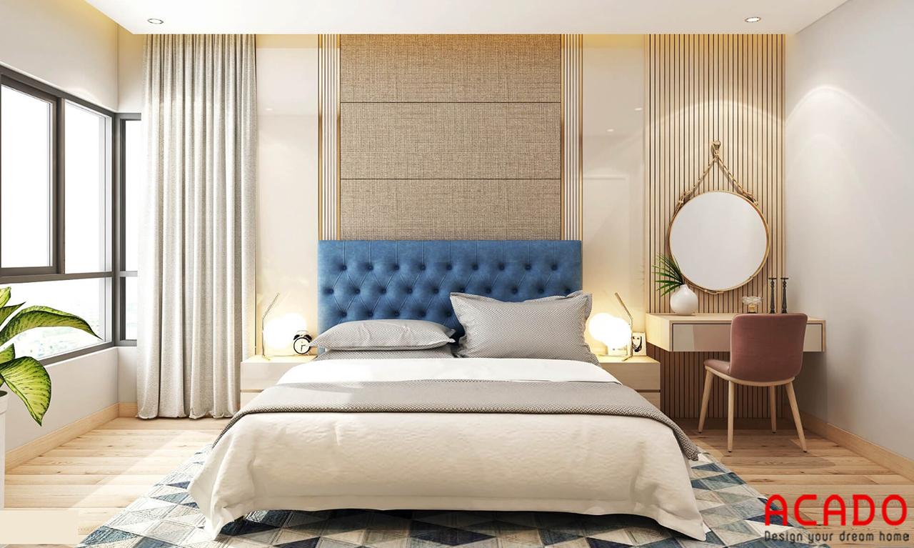 Với sự kết hợp của những gam màu tươi sáng - ACADO thiết kế phòng ngủ hiện đại và trẻ trung