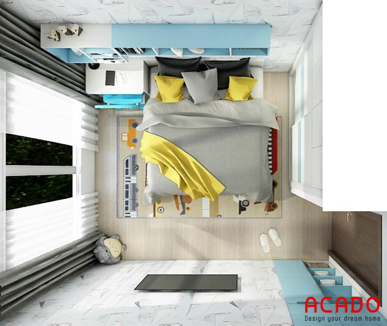 Mẫu thiết kế phòng ngủ chung cư cho trẻ em