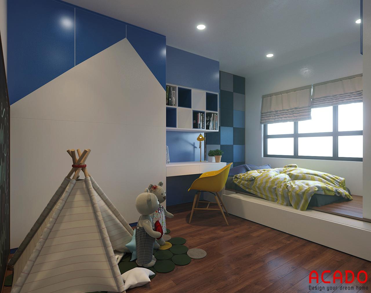 Với các gam màu tươi sáng và nổi bật để tạo hứng thú và yêu thích cho bé mỗi khi vào phòng