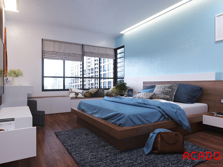 Phòng ngủ chsinh là phòng ngủ cho bố mẹ với không gian rộng dãi