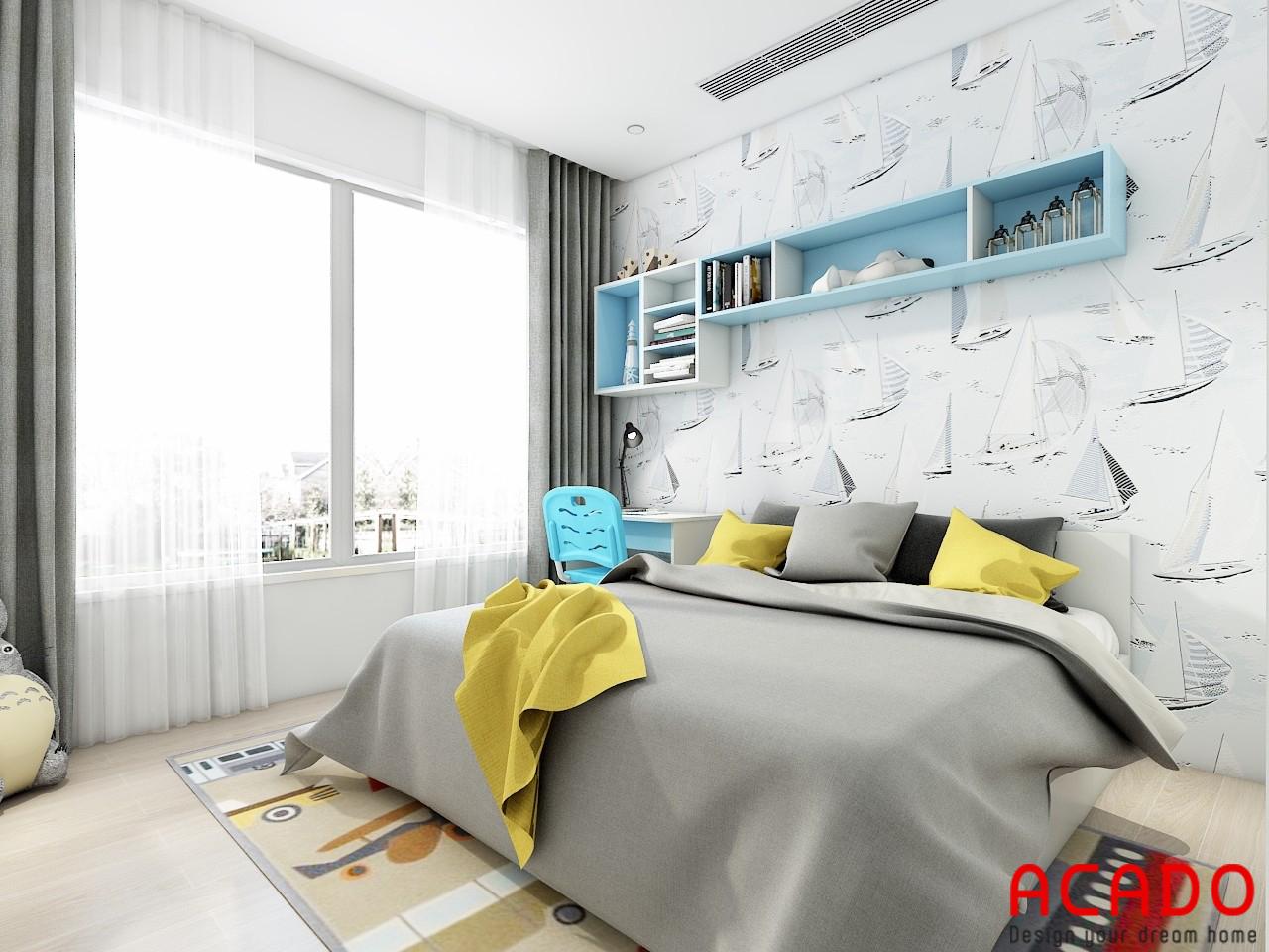 Thiết kế nội thất phòng ngủ chung cư - nội thất ACADO
