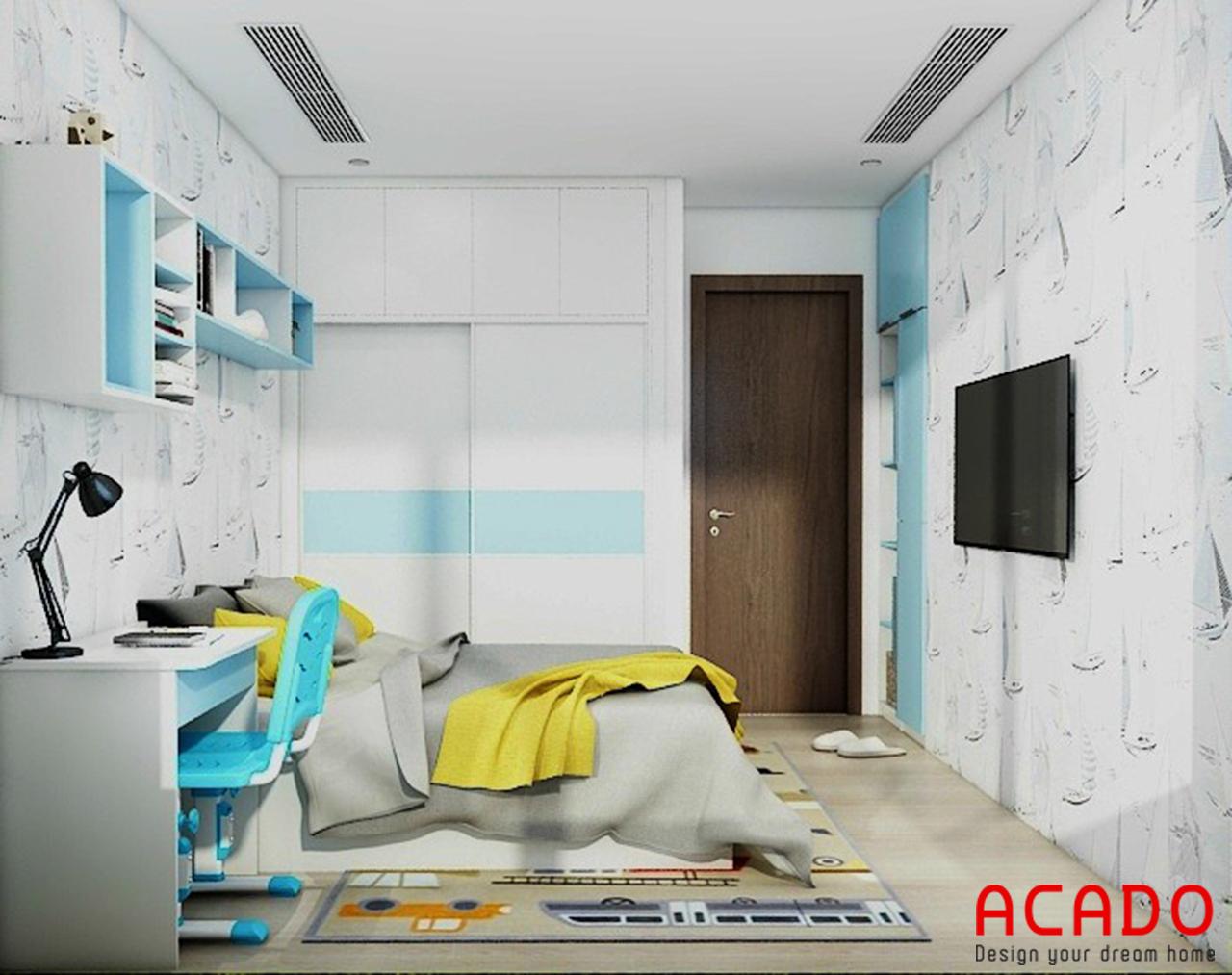 Thiết kế và bố trí các đồ nội thất phòng cho bé nghộ nghĩnh, trẻ trung