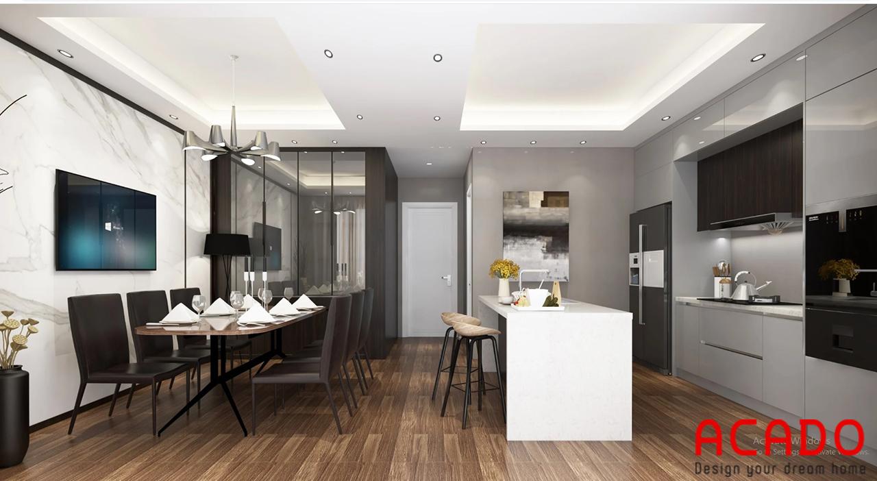 Mẫu thiết kế phòng bếp mang phong cách Châu Âu