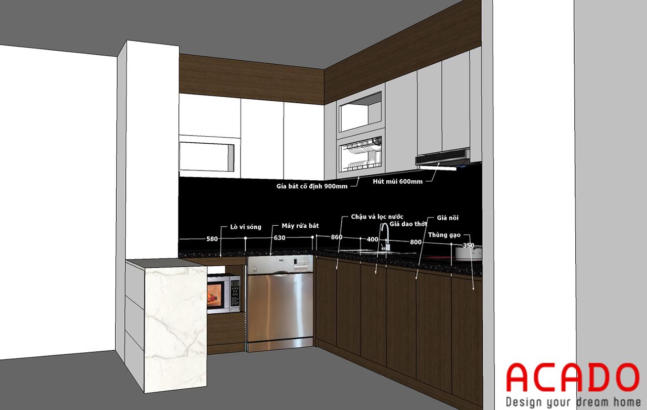 ACADO thiết kế tủ bếp phù hợp nhất cho gia đình anh Toàn
