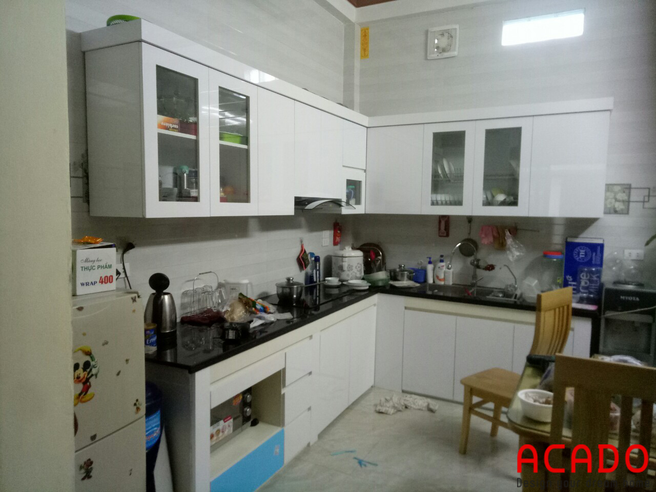 ACADO thiết kế và thi công tủ bếp tại Kiến Hưng - Hà Đông, gia đình anh Triệu