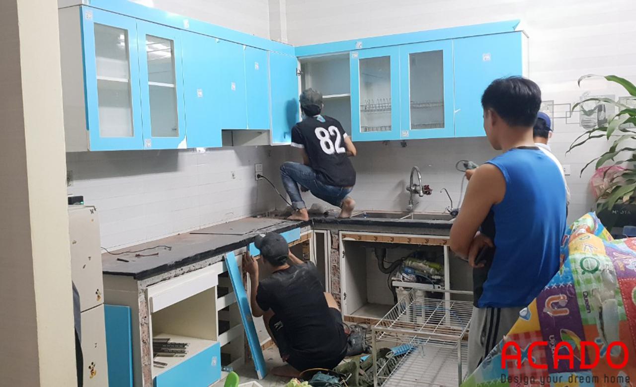 Tủ bếp khung Picomat chống nước, chống mối mọt tuyệt đối cho độ bền cao
