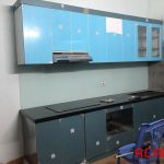 Hình ảnh tủ bếp gia đình cô Liễu đã hoàn thiện - ACADO thiết kế và thi công