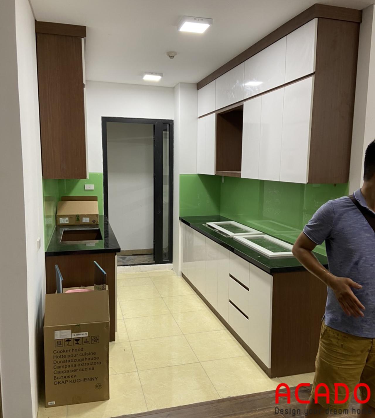Thi công tủ bếp hoàn thiện cho khách hàng - nội thất ACADO