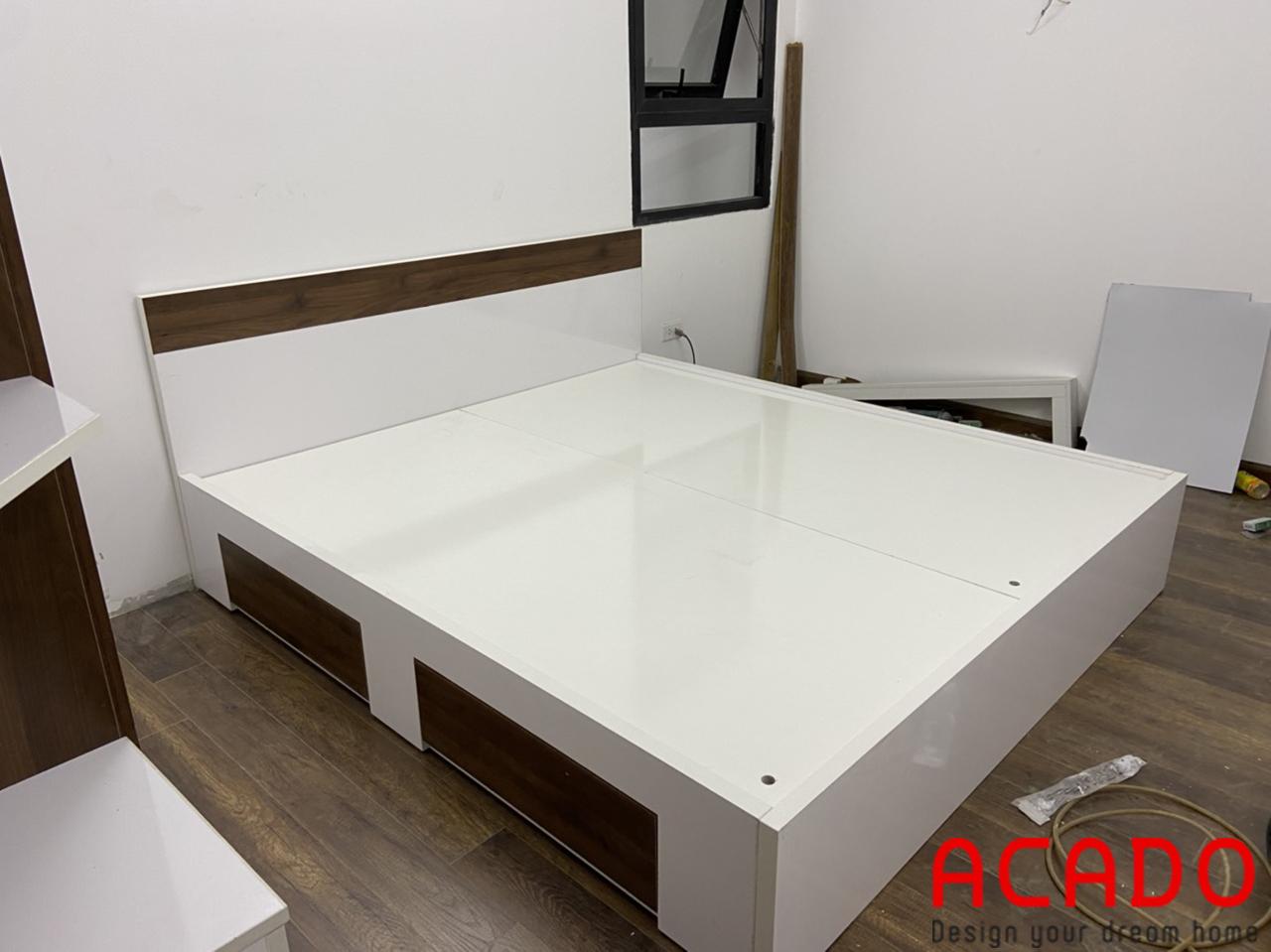 Giường ngủ thiết kế đơn giản , hiện đại với ngăn kéo tiện lợi
